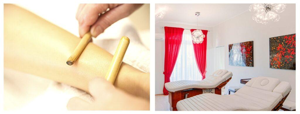 Pachet spa-masaj cu bambus-impachetare